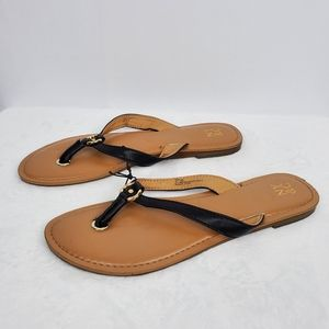 New York & Company Black Flip Flops 9